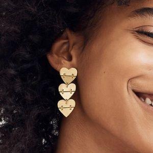 MADEWELL Hinged Heart Earrings NWT